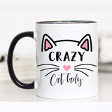 Cat Lady, Crazy Cat Lady, Crazy Cat Lady Mug, CM
