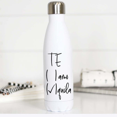 Tequila Water Bottle, Te Amo Tequila, WB