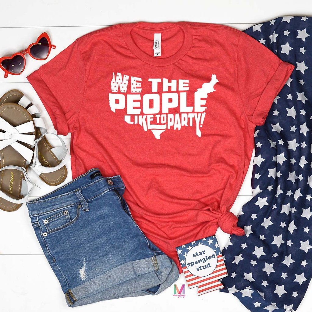 We The People Like To Party, Patriotic Graphic Tees