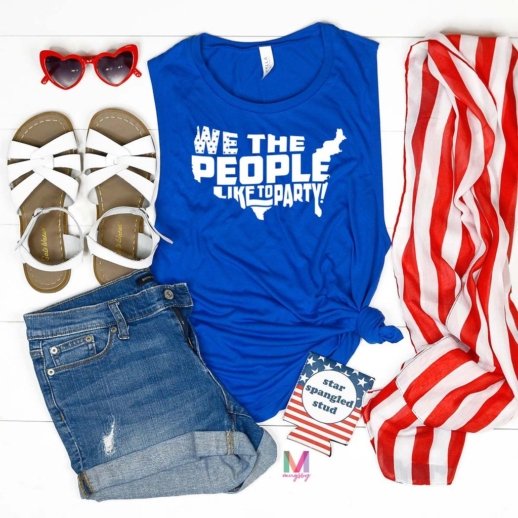 4th of July tank, Patriotic Tank Tops, We The People Like to Party