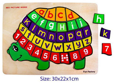 Puzzle- Turtle Numbers and Letters, Puzzles, La Belle Toys, Little Toy Lane - Little Toy Lane