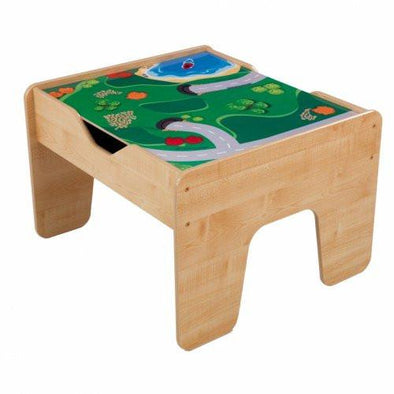 2-In-1 Activity Table With Board - Natural, Build it,Learn & Expore, KidKraft, Little Toy Lane - Little Toy Lane