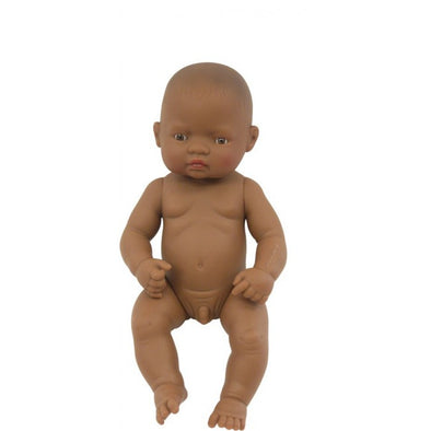 Miniland Anatomically Correct Baby Doll Latin American Boy,  with clothing, Educational Dolls, Miniland, Little Toy Lane - Little Toy Lane