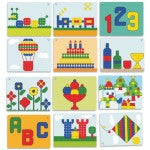 Miniland Giant Superpegs Mosaic Board Patterns, , Miniland, Little Toy Lane - Little Toy Lane