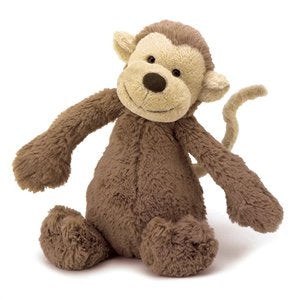 Bashful Monkey Medium, JellyCat, Jellycat, Little Toy Lane - Little Toy Lane