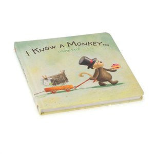 I Know A Monkey (Bashful Monkey Book), JellyCat, Jellycat, Little Toy Lane - Little Toy Lane