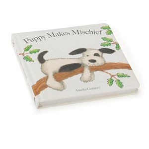 Puppy Makes Mischief (Bashful Black & White Puppy Book), JellyCat, Jellycat, Little Toy Lane - Little Toy Lane