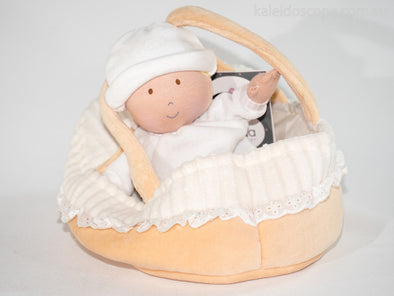 Carry Cot, Baby and Blanket, Cloth Doll, Bonikka, Little Toy Lane - Little Toy Lane