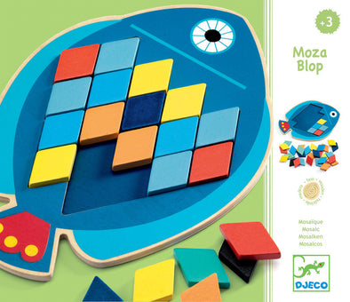 Djeco Mosa Blop Mosaic Fish Puzzle, Puzzles, Djeco, Little Toy Lane - Little Toy Lane