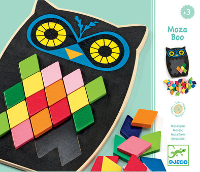 Djeco Mosa Boo Mosaic Owl Puzzle, Puzzles, Djeco, Little Toy Lane - Little Toy Lane