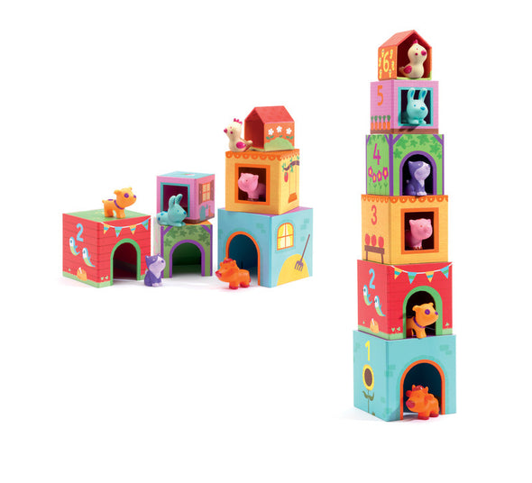 Topanifarm Blocks, Learn & Explore, Kaleidoscope, Little Toy Lane - Little Toy Lane