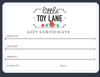 Little Toy Lane - Gift Voucher, gift voucher, gift voucher, Little Toy Lane - Little Toy Lane