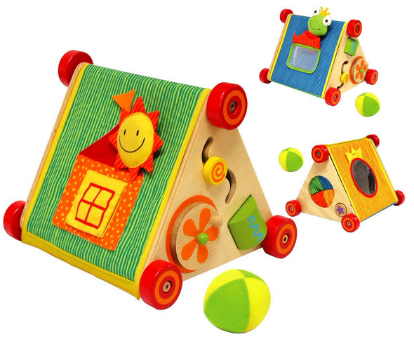 Tip Top Triangle - Wooden activity centre with rollers, , Little Toy Lane, Little Toy Lane - Little Toy Lane