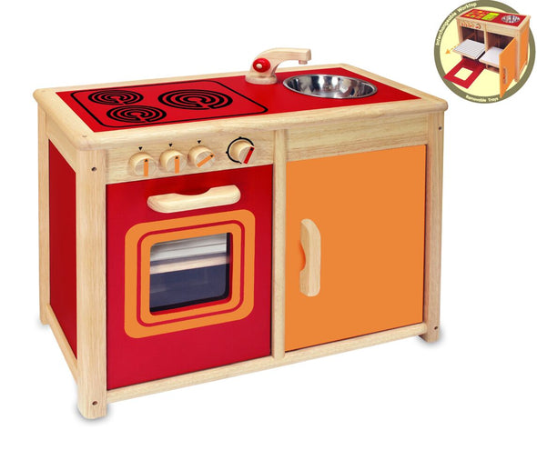 Oven And Cupboard Sink Unit, Kitchen Play, Kaleidoscope, Little Toy Lane - Little Toy Lane