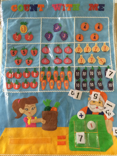 Count with me chart, Cloth Books, Dyles, Little Toy Lane - Little Toy Lane