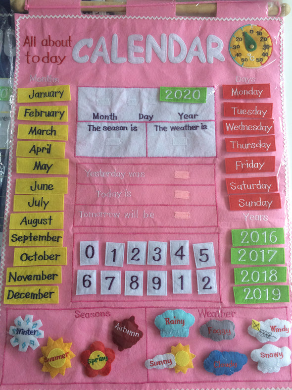 All About Today Calendar, Cloth Books, Dyles, Little Toy Lane - Little Toy Lane