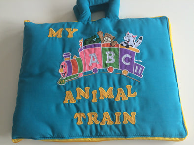 ABC Animal Train, Cloth Books, Dyles, Little Toy Lane - Little Toy Lane