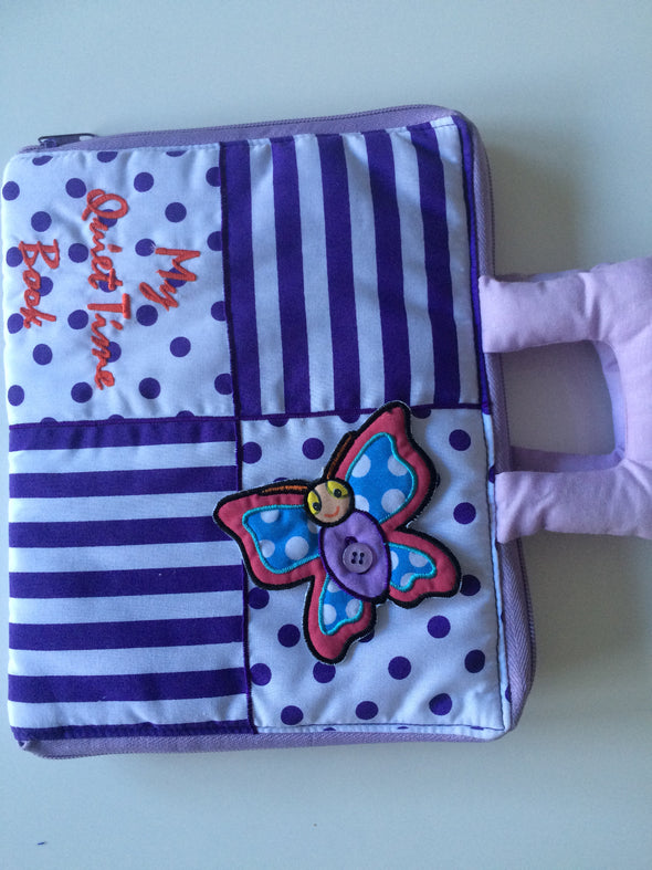 Quiet Book Lilac or Yellow, Cloth Books, Dyles, Little Toy Lane - Little Toy Lane