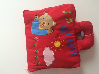 My Day Bear Bag, Cloth Books, Dyles, Little Toy Lane - Little Toy Lane