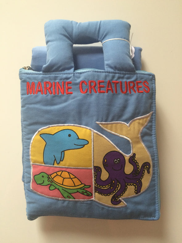 Marine Creatures Book & Playmat, Cloth Books, Dyles, Little Toy Lane - Little Toy Lane