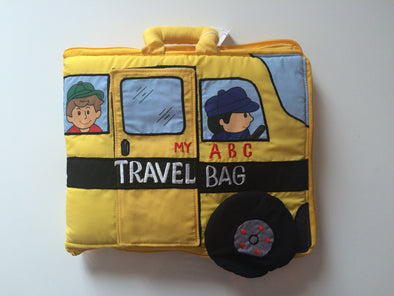 ABC School Bag, Cloth Books, Dyles, Little Toy Lane - Little Toy Lane
