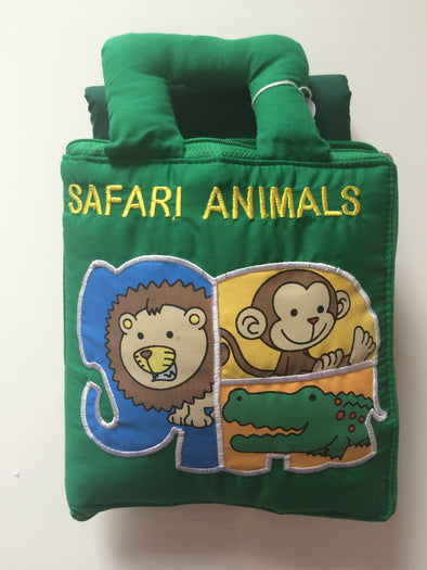 Safari Book with Playmat, Cloth Books, Dyles, Little Toy Lane - Little Toy Lane