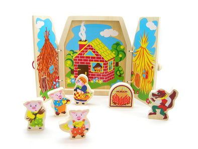 STORYTELLING 3 LITTLE PIGS, Learn & Explore, Eleganter, Little Toy Lane - Little Toy Lane