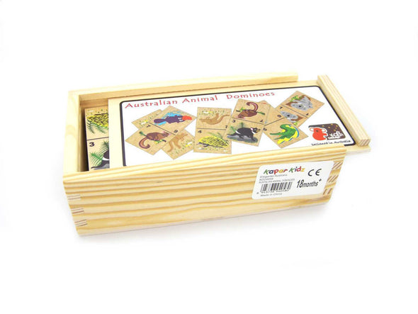 AUSTRALIAN ANIMAL DOMINOES, Puzzles, Eleganter, Little Toy Lane - Little Toy Lane