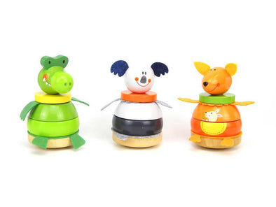 Animal Stacking Blocks, Puzzles, Eleganter, Little Toy Lane - Little Toy Lane