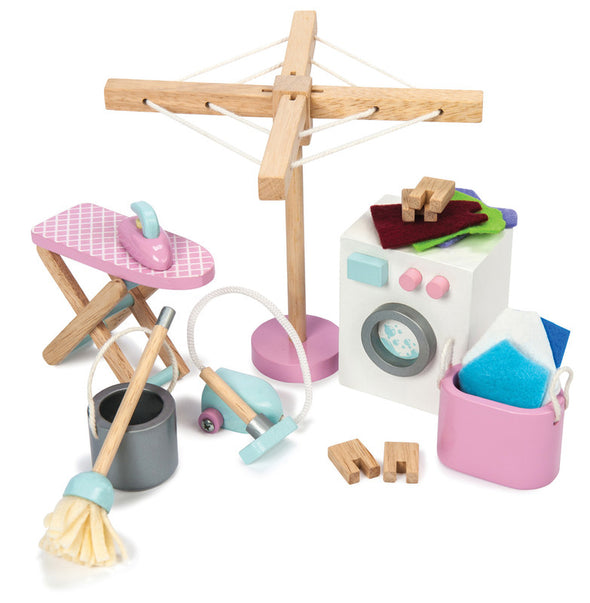 Daisy Lane -Laundry Room Set, Dolls Houses, Le Toy Van, Little Toy Lane - Little Toy Lane
