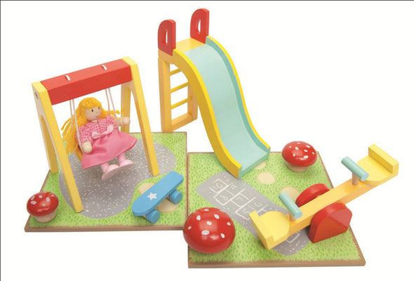 Outdoor Playset with Swing, Dolls Houses, Kaleidoscope, Little Toy Lane - Little Toy Lane