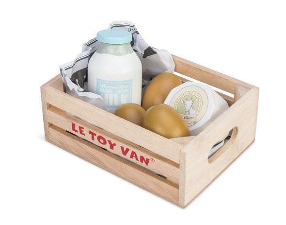 Honeybake Eggs & Dairy In A Crate, Kitchen Play, Le Toy Van, Little Toy Lane - Little Toy Lane