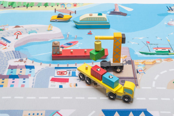 First Harbour playmat, Learn & Explore, Le Toy Van, Little Toy Lane - Little Toy Lane