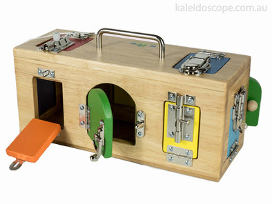 Original Lock Activity Box, Learn & Explore, Mamagenius, Little Toy Lane - Little Toy Lane