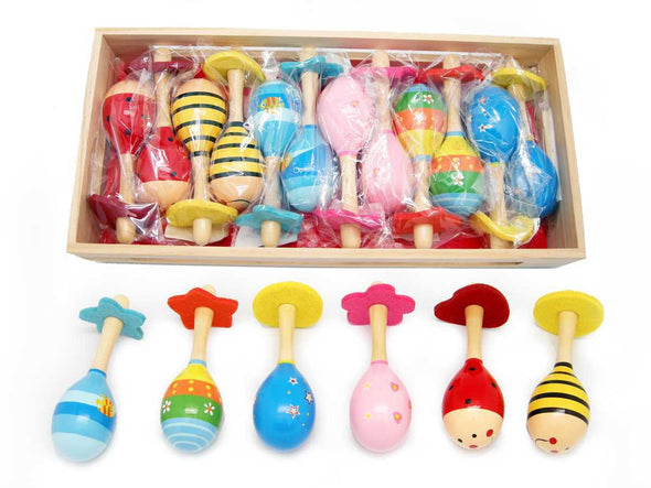 mini wooden maracas, Music, Fun Factory, Little Toy Lane - Little Toy Lane