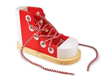 Melisssa & Doug - Wooden Lacing Sneaker, Learn & Explore, Melissa & Doug, Little Toy Lane - Little Toy Lane