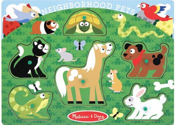 Melissa & Doug Peg Puzzles, Puzzles, Melissa & Doug, Little Toy Lane - Little Toy Lane