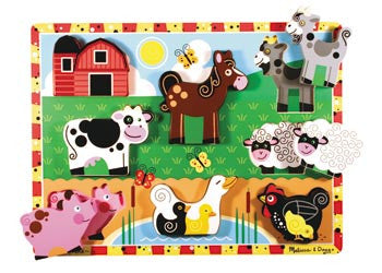 Melissa & Doug – Farm Chunky Puzzle, Puzzles, Melissa & Doug, Little Toy Lane - Little Toy Lane