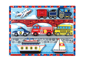 Melissa & Doug – Vehicles Chunky Puzzle, Puzzles, Melissa & Doug, Little Toy Lane - Little Toy Lane
