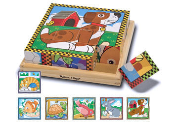 Melissa & Doug - Pets Cube Puzzle - 16pc, Puzzles, Melissa & Doug, Little Toy Lane - Little Toy Lane