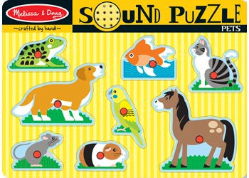 Melissa & Doug – Pets Sound Puzzle – 8pc, Puzzles, Melissa & Doug, Little Toy Lane - Little Toy Lane