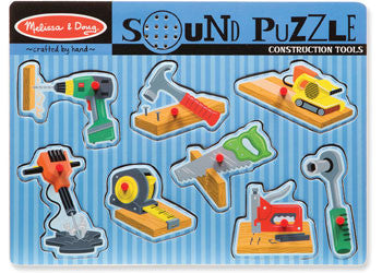 Melissa & Doug - Construction Tools Sound Puzzle - 8pc, Puzzles, Melissa & Doug, Little Toy Lane - Little Toy Lane