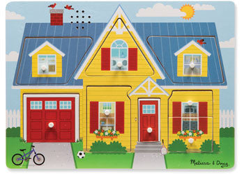 Melissa & Doug - Around The House Sound Puzzle - 8pc, Puzzles, Melissa & Doug, Little Toy Lane - Little Toy Lane