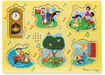 Melissa & Doug- Nursery Rhyme A Sound Puzzle - 6pc, Puzzles, Melissa & Doug, Little Toy Lane - Little Toy Lane