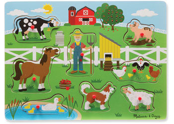 Melissa & Doug - Old MacDonald Farm Sound Puzzle - 8pc, Puzzles, Melissa & Doug, Little Toy Lane - Little Toy Lane