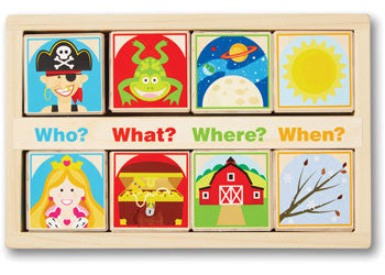 Melissa & Doug - Wooden Story Blocks, Learn & Expore, Melissa & Doug, Little Toy Lane - Little Toy Lane