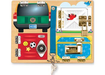 Melissa & Doug – Locks Board, Learn & Explore, Melissa & Doug, Little Toy Lane - Little Toy Lane