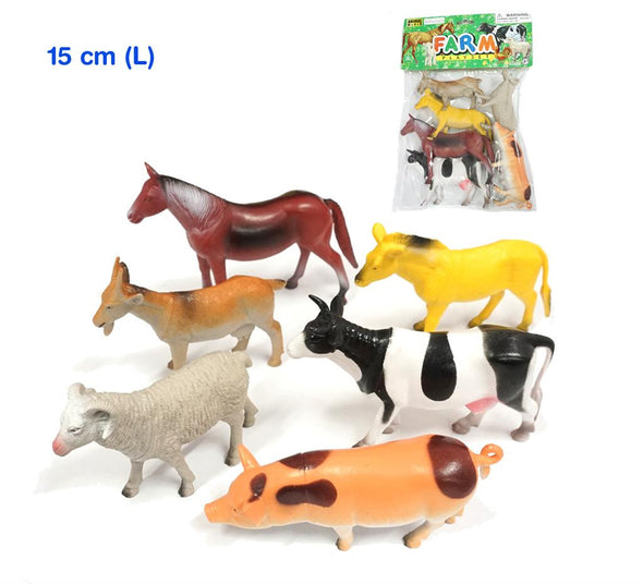 Farm Animals - 15cm Tall, Learn & Explore, Natural World, Little Toy Lane - Little Toy Lane