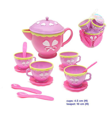 Tea Set- Plastic, Kitchen Play, La Belle Toys, Little Toy Lane - Little Toy Lane