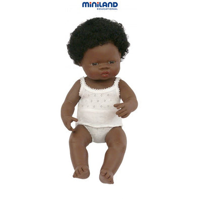Miniland Anatomically Correct Baby Doll, 38cm with Underwear, Educational Dolls, Miniland, Little Toy Lane - Little Toy Lane